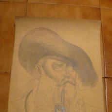 Arte: DIBUJO A CARBONCILLO - Mº ROSA TORRES - RETRATO DE VAN GOGH. Lote 41266833
