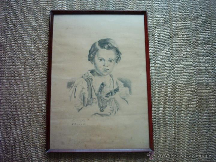 CASIMIRO PÉREZ DE LA RIVA (1851-1934). LÁPIZ / PAPEL. 43 X 30 CM. FIRMADO. (Arte - Dibujos - Modernos siglo XIX)