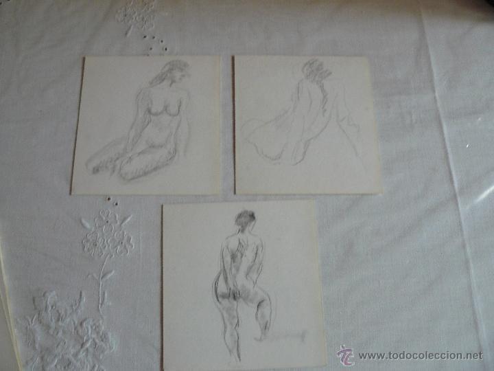 DIBUJOS A LÁPIZ DESNUDOS FEMENINOS (S) (Arte - Dibujos - Contemporáneos siglo XX)