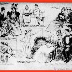Arte: A. PONS (S. XIX) DIBUJO A PLUMILA S/ PAPEL -DE LO QUE SE DEBE HABLAR A LAS MUJERES- FIRMADO.44 X 34. Lote 41288458