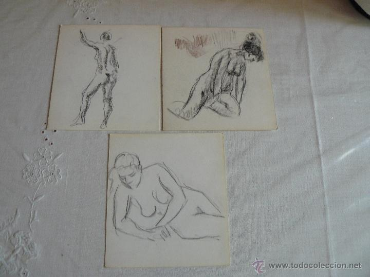 DIBUJOS A LÁPIZ Y CARBONCILLO - DESNUDOS FEMENINOS (X) (Arte - Dibujos - Contemporáneos siglo XX)