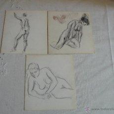 Arte: DIBUJOS A LÁPIZ Y CARBONCILLO - DESNUDOS FEMENINOS (X). Lote 41303740