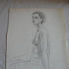 Arte: DIBUJO CARBONCILLO DESNUDO FEMENINO (66). Lote 41338750