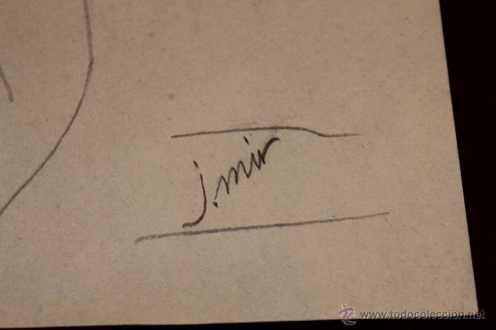 Arte: DIBUJO A LÁPIZ A DOS CARAS FIRMADO J. MIR - MUJERES DE PERFIL - PRIMERA MITAD SIGLO XX - Foto 4 - 41370159