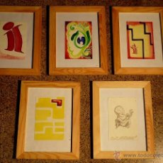 Arte: CONJUNTO DE 5 OBRAS.FIRMADA VICTOR.. Lote 41392065