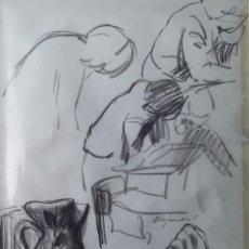 Arte: ALEJANDRO COSTA / ESBOZO / LIBRO, JARRA, MANO, FIGURAS.. Lote 41397506