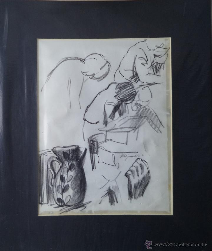 Arte: Alejandro Costa / esbozo / libro, jarra, mano, figuras. - Foto 2 - 41397506