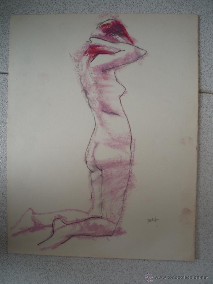 PEQUEÑO DIBUJO, DESNUDO DE JOAN PALET (Arte - Dibujos - Contemporáneos siglo XX)