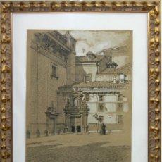 Arte: A2-027 ALEXANDRE CARDUNETS CAZORLA (1871-1944) - CARBONCILLO DEDICADO AL ESCRITOR SANTIAGO VINARDELL. Lote 41434381