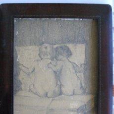 Arte: PRECIOSO Y ROMANTICO DIBUJO A LAPIZ. IDILIO. AUSTRIA.1921. FIRMADO BERT RODRIGUEZ. Lote 41497926