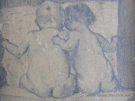 Arte: PRECIOSO Y ROMANTICO DIBUJO A LAPIZ. IDILIO. AUSTRIA.1921. FIRMADO BERT RODRIGUEZ - Foto 2 - 41497926