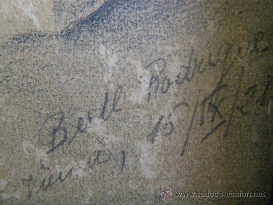 Arte: PRECIOSO Y ROMANTICO DIBUJO A LAPIZ. IDILIO. AUSTRIA.1921. FIRMADO BERT RODRIGUEZ - Foto 3 - 41497926