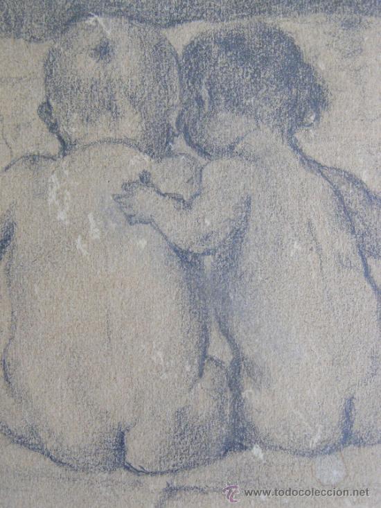 Arte: PRECIOSO Y ROMANTICO DIBUJO A LAPIZ. IDILIO. AUSTRIA.1921. FIRMADO BERT RODRIGUEZ - Foto 5 - 41497926