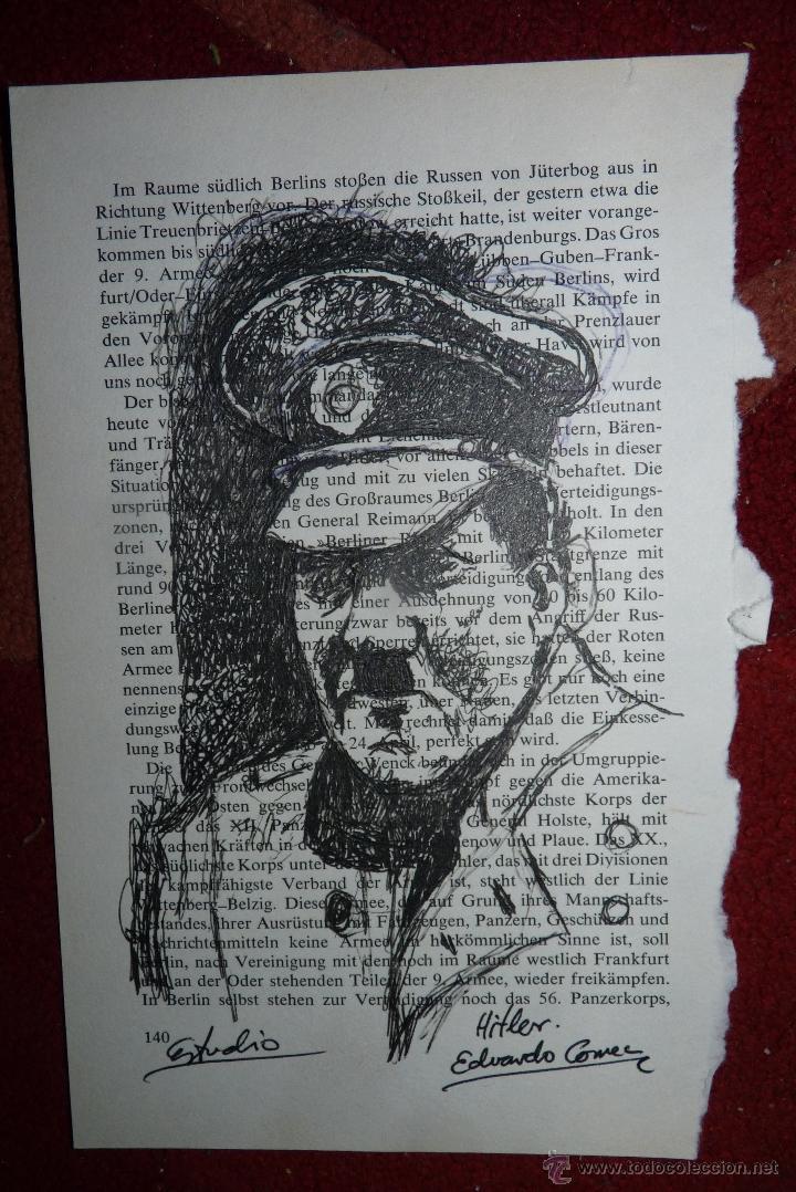 HITLER, DIBUJO A TINTA (Arte - Dibujos - Contemporáneos siglo XX)