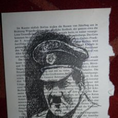 Arte: HITLER, DIBUJO A TINTA. Lote 41510027