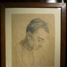 Arte: MANEL FELIU DE LEMUS (1865-1922). RETRATO. FIRMADO Y FECHADO 1913.. Lote 41514102