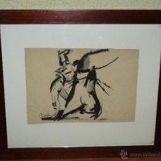 Arte: DIBUJO A TINTA - J TERRUELLA - ARTE TAURINO. Lote 41526788