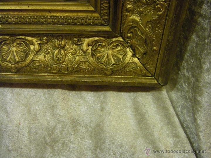 Arte: Dibujo Inmaculada Concepción, academia siglo XIX y marco de época dorado - Foto 9 - 41616648