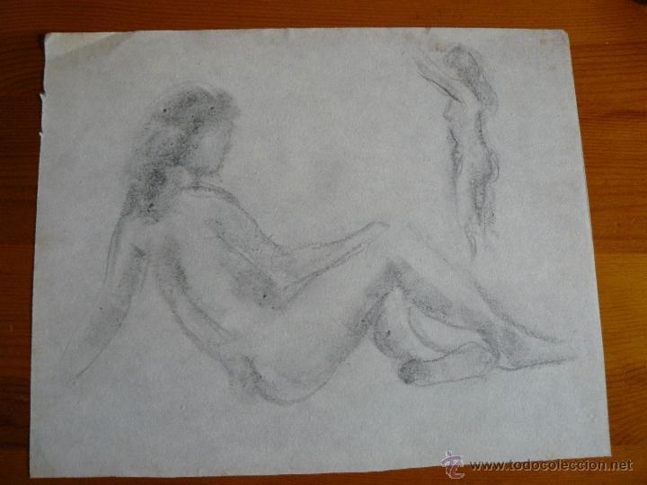 DIBUJOS A LÁPIZ DESNUDOS FEMENINOS (69) (Arte - Dibujos - Contemporáneos siglo XX)