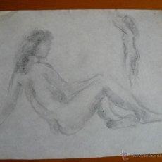 Arte: DIBUJOS A LÁPIZ DESNUDOS FEMENINOS (69). Lote 41637790