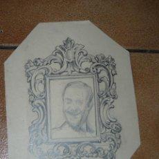 Arte: DIBUJO A LÁPIZ - J BARRENECHEA - CORNUCOPIA Y RETRATO . Lote 41670537