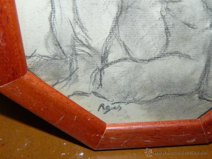 Arte: DIBUJO A LAPIZ Y CARBONCILLO - PAGÉS - DESNUDO FEMENINO - Foto 3 - 41672805