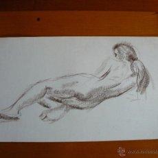 Arte: DIBUJO DESNUDO FEMENINO A LAPIZ Y CARBONCILLO (83).. Lote 41709653