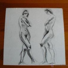 Arte: DIBUJO DESNUDO FEMENINO A CARBONCILLO (87).. Lote 41709853