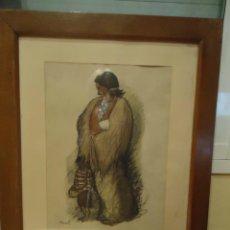 Arte: DIBUJO ANTIGUO ORIGINAL GITANA CON NIÑO. Lote 42058884