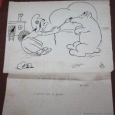 Arte: CARICATURA DE LOS AÑOS 40 DE PLA. Lote 42103551