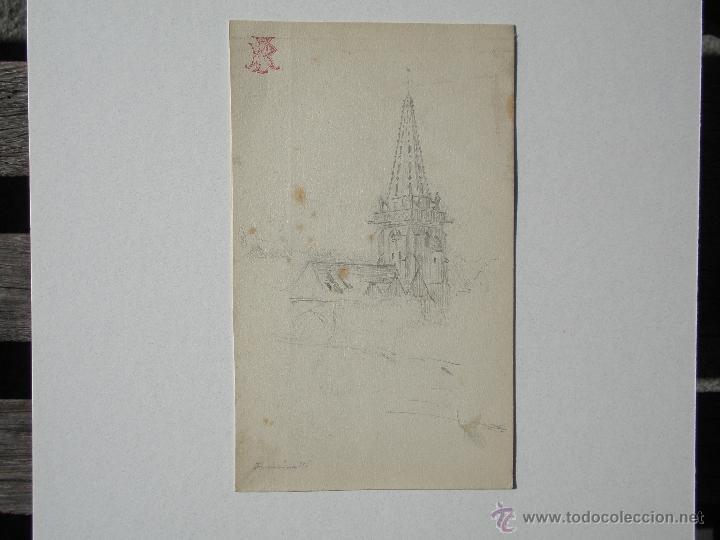 FRASINELLI. TORRE DE IGLESIA (Arte - Dibujos - Modernos siglo XIX)