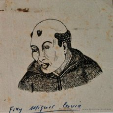 Arte: PEQUEÑO DIBUJO A TINTA, FRAY MIGUEL CERVIÀ, SIN FIRMAR . Lote 42215056