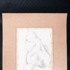 Arte: DIBUJO A LAPIZ SOBRE PAPEL, DESNUDO, FIRMADO J.M.FREIXA AÑO 1934. Lote 42257516