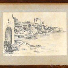 Arte: PAREJA DE MARINAS AL CARBONCILLO. FIRMADAS DANIEL 80. 25 X 17 CM. CADA UNO. CON MARCO 36 X 27 CM.. Lote 42331189