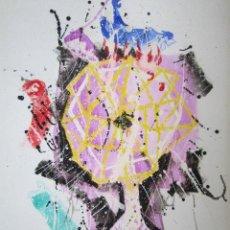 Arte: PINTURA ABSTRACTA. CRESPO. 49,5 X 34 CM. Lote 42402383