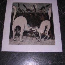Arte: DIBUJO A PLUMA Y COLOREADO ORIGINAL DE PICAROL PARA PUBLICAR EN L'ESQUELLA DE LA TORRATXA 35,5X32 CM. Lote 42461003