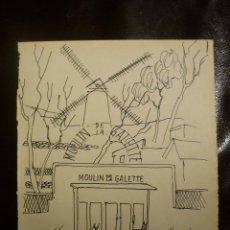 Arte: MOULIN DE LA GALETTE. FIRMADO ISMAEL. 1950.. Lote 42624695