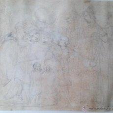 Arte: BOCETO A LÁPIZ/PAPEL.FIRMADO ILEGIBLE. Lote 33106583