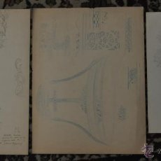 Arte: LOTE DE 3 DIBUJOS ORIGINALES DEL DIBUJANTE ALEXANDRE CARDUNETS CAZORLA (BARCELONA, 1871-1944). Lote 42752685