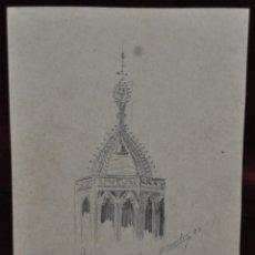 Arte - ALEXANDRE CARDUNETS CAZORLA (Barcelona, 1871-1944) DIBUJO A LAPIZ. CATEDRAL DE BARELONA - 42753170