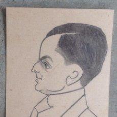 Arte: ANTIGUA CARICATURA . AÑOS 30 - 40 . A LÁPIZ . Lote 42902129