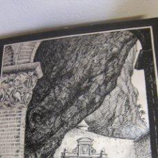 Arte: ARTE DIBUJO TECNICA PLUMILLA MONASTERIO SAN JUAN DE LA PEÑA ARAGON FIRMADO IBAÑEZ. Lote 42977896