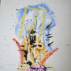 Arte: CRESPO. PINTURA ABSTRACTA. FIRMADA. 49,5 X 31 CM. Lote 42992499