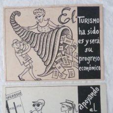 Arte: PROMOCIÓN DEL TURISMO EN ESPAÑA / LOTE DE 2 ORIGINALES PUBLICITARIOS. Lote 43102942