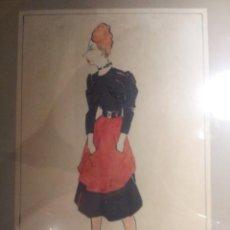 Arte: FIGURIN DE TEATRO FECHADO EN 1917 FIRMA POR DETERMINAR. Lote 43141607