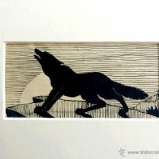 Arte: INTERESANTE DIBUJO A PLUMILLA ART DECO, THE BLACK WOLF. Lote 43219747