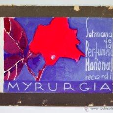 Arte: EDUARD JENER ATRIB. (BARCELONA 1882-1967) ACUARELA PUBLICITARIA PARA MYRURGIA. 18X22 CM.. Lote 43236330