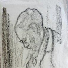 Arte: EXCELENTE RETRATO A CARBONCILLO DEL GRAN PINTOR ALEMAN WOHL H. FREYTAG. 1950, FIRMADO. 50 X 36 CM. Lote 43266809