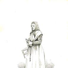 Arte: G. PUJADAS. DIBUJO A TINTA 21X28 CM. FIRMADO Y FECHADO EN 1895. Lote 43567315