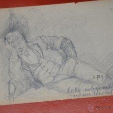 Arte: DIBUJO ORIGINAL REALIZADO A LÁPIZ DE 1898 DE AUTOR ALEMÁN . Lote 43627032